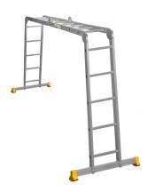 Лестница-трансформер 2х4/2х5 ступеней АЛЮМЕТ шарнирная алюминиевая