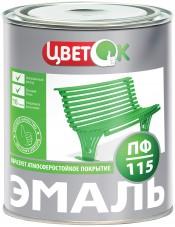 Эмаль ПФ-115 белый (1,9кг) ЦветОК