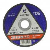 Диск отрезной по металлу КРАТОН 125х1,6х22,2мм (10/400)